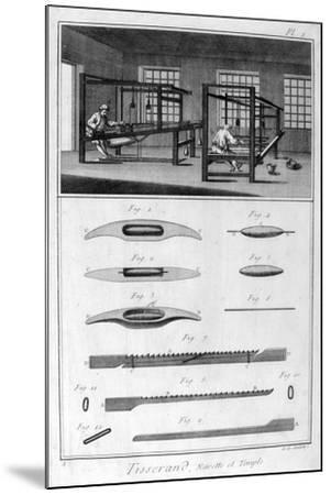 Weavers, 1751-1777-Denis Diderot-Mounted Giclee Print