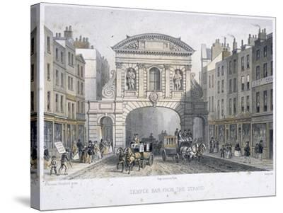 Temple Bar, London, 1854-Deroy-Stretched Canvas Print