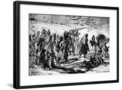 The Retreat, Crimean War, 19th Century-Constantin Guys-Framed Giclee Print