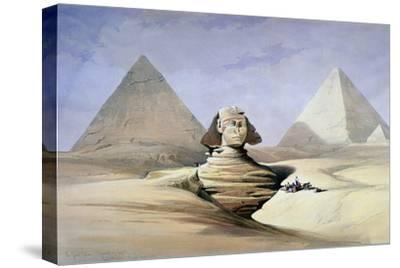 The Great Sphinx and Pyramids at Giza, 1838-1839-David Roberts-Stretched Canvas Print