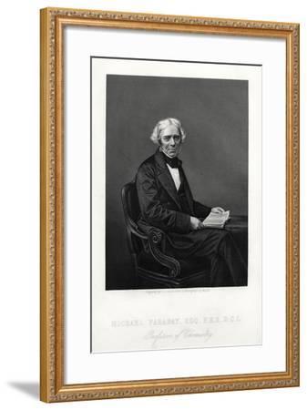 Michael Faraday, British Scientist, C1880-DJ Pound-Framed Giclee Print