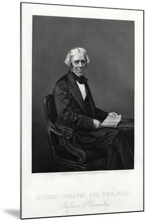 Michael Faraday, British Scientist, C1880-DJ Pound-Mounted Giclee Print