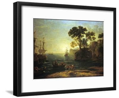 Arrival of Aeneas in Italy, the Dawn of the Roman Empire, (C1620-1680)-Claude Lorraine-Framed Giclee Print