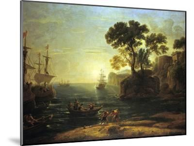 Arrival of Aeneas in Italy, the Dawn of the Roman Empire, (C1620-1680)-Claude Lorraine-Mounted Giclee Print