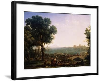 Battle on the Bridge, (Battle Between Emperors Maxentius and Constantin), 1655-Claude Lorraine-Framed Giclee Print