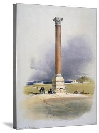 Pompey's Pillar, Alexandria, 19th Century-David Roberts-Stretched Canvas Print