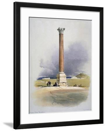 Pompey's Pillar, Alexandria, 19th Century-David Roberts-Framed Giclee Print