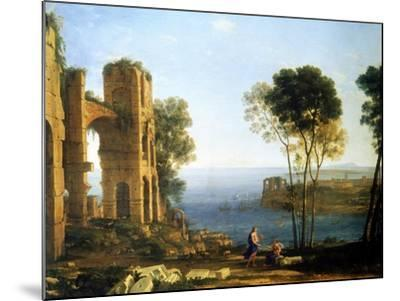 Coast View with Apollo and the Cumaean Sibyl, Between 1645 and 1649-Claude Lorraine-Mounted Giclee Print