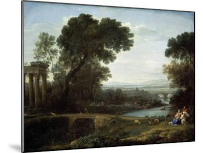 Landscape with the Rest on the Flight into Egypt (Midda), 1661-Claude Lorraine-Mounted Giclee Print