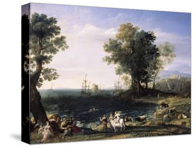 Rape of Europa, 1655-Claude Lorraine-Stretched Canvas Print