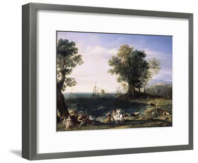 Rape of Europa, 1655-Claude Lorraine-Framed Giclee Print