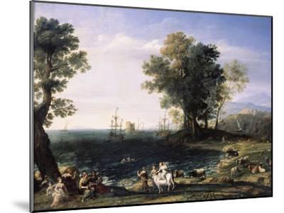 Rape of Europa, 1655-Claude Lorraine-Mounted Giclee Print