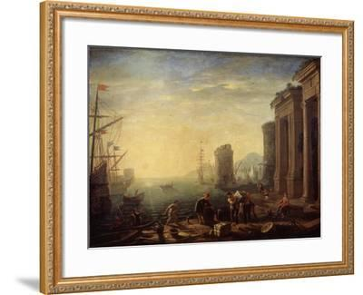 Morning in the Harbour, 1630S-Claude Lorraine-Framed Giclee Print