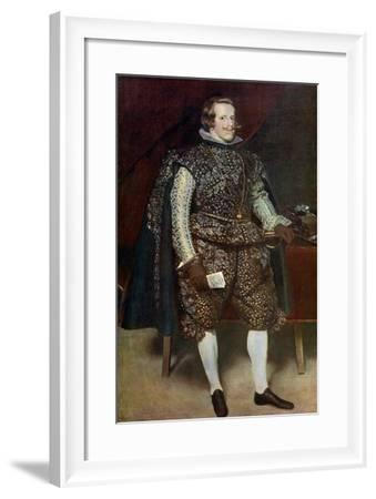 Philip IV of Spain in Brown and Silver, C1631-1632-Diego Velazquez-Framed Giclee Print