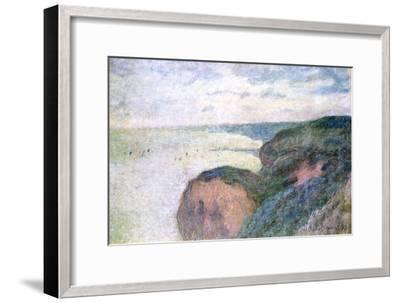 Steep Cliffs Near Dieppe, 1897-Claude Monet-Framed Giclee Print