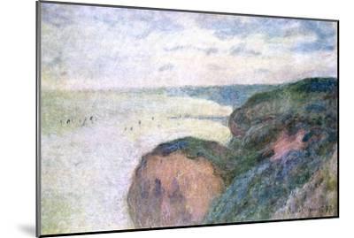 Steep Cliffs Near Dieppe, 1897-Claude Monet-Mounted Giclee Print