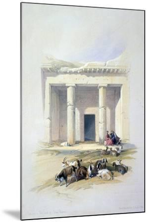 Entrance to the Cave of Beni Hassan, 19th Century-David Roberts-Mounted Giclee Print