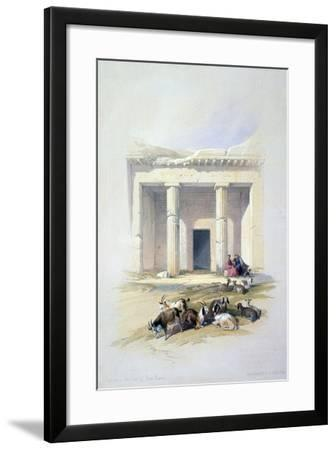 Entrance to the Cave of Beni Hassan, 19th Century-David Roberts-Framed Giclee Print