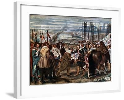 The Surrender of Breda, June 2Nd, 1625, (C163)-Diego Velazquez-Framed Giclee Print