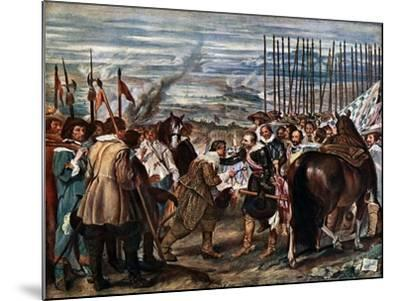 The Surrender of Breda, June 2Nd, 1625, (C163)-Diego Velazquez-Mounted Giclee Print