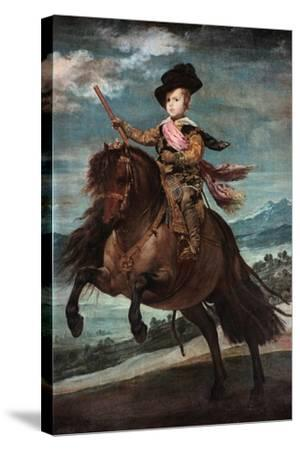 Prince Baltasar Carlos on Horseback, 1635-36-Diego Velazquez-Stretched Canvas Print