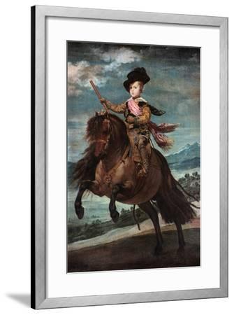 Prince Baltasar Carlos on Horseback, 1635-36-Diego Velazquez-Framed Giclee Print