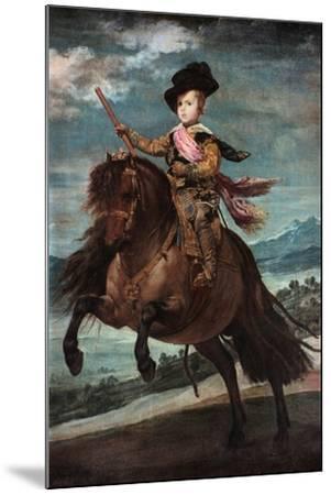 Prince Baltasar Carlos on Horseback, 1635-36-Diego Velazquez-Mounted Giclee Print