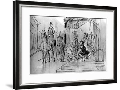 Setting Out, 19th Century-Constantin Guys-Framed Giclee Print
