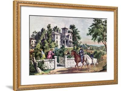 American Country Life, May Morning, 1855-Currier & Ives-Framed Giclee Print