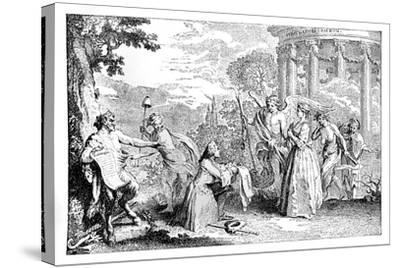 Fore-Warned, Fore-Armed, 1741-E Gravelot-Stretched Canvas Print