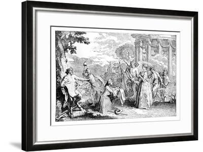 Fore-Warned, Fore-Armed, 1741-E Gravelot-Framed Giclee Print