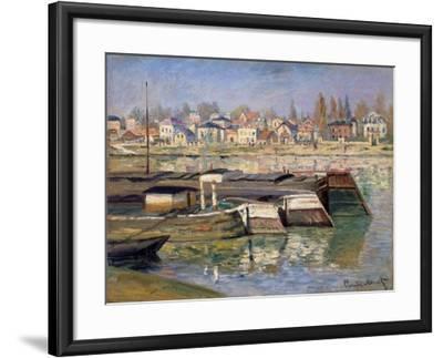 Seine at Asnieres, 1873-Claude Monet-Framed Giclee Print