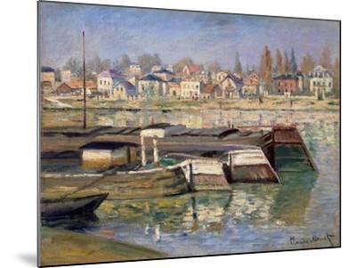 Seine at Asnieres, 1873-Claude Monet-Mounted Giclee Print