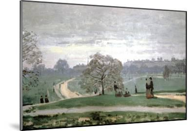 Hyde Park, London, 1871-Claude Monet-Mounted Giclee Print