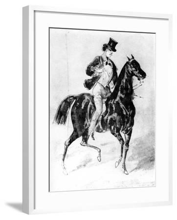 A Dandy, 19th Century-Constantin Guys-Framed Giclee Print