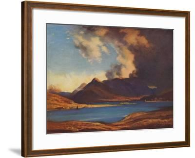 The Shadows of Glencoe, 1925-David Young Cameron-Framed Giclee Print