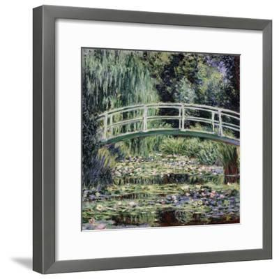 White Water Lilies, 1899-Claude Monet-Framed Premium Giclee Print