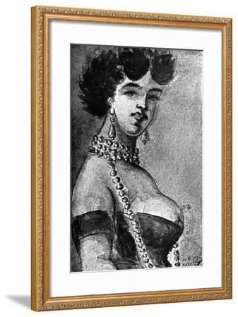 Woman, 19th Century-Constantin Guys-Framed Giclee Print