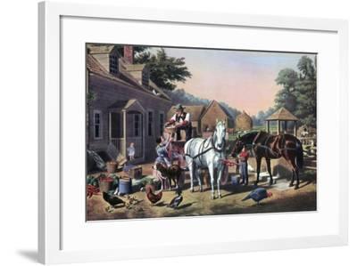 Preparing for Market, 1856-Currier & Ives-Framed Giclee Print