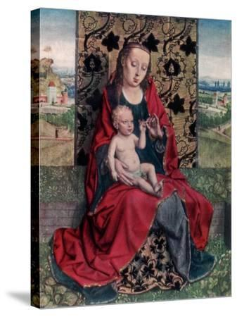 The Madonna and Child-Dirck Bouts-Stretched Canvas Print