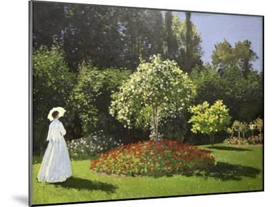 Lady in the Garden, 1867-Claude Monet-Mounted Giclee Print