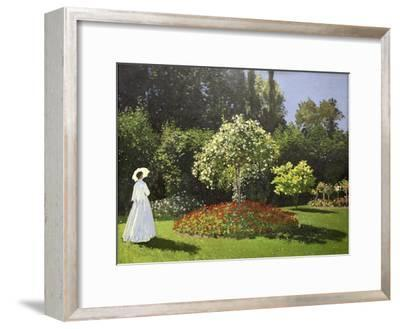 Lady in the Garden, 1867-Claude Monet-Framed Giclee Print
