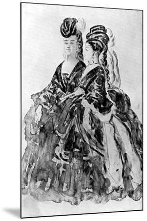 Two Ladies-Constantin Guys-Mounted Giclee Print