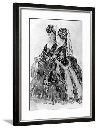 Two Ladies-Constantin Guys-Framed Giclee Print