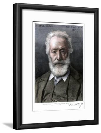 Victor Hugo, French Author, 1885-D Laugee-Framed Giclee Print