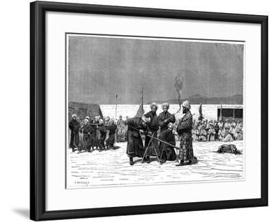 Chinese Military Exercise, Kashgar, China, 19th Century- Delort-Framed Giclee Print