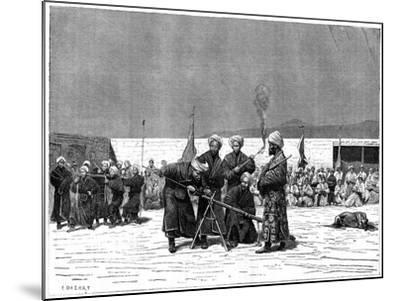 Chinese Military Exercise, Kashgar, China, 19th Century- Delort-Mounted Giclee Print