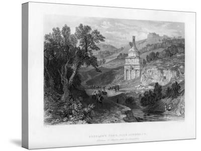 Absalom's Tomb, Near Jerusalem, Israel, 1841-E Redclyffe-Stretched Canvas Print