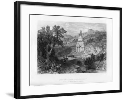 Absalom's Tomb, Near Jerusalem, Israel, 1841-E Redclyffe-Framed Giclee Print