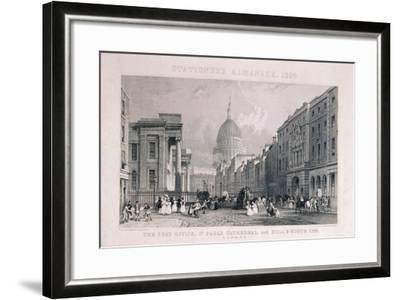 Old General Post Office, St Martin's Le Grand, London, 1829-CJ Emblem-Framed Giclee Print